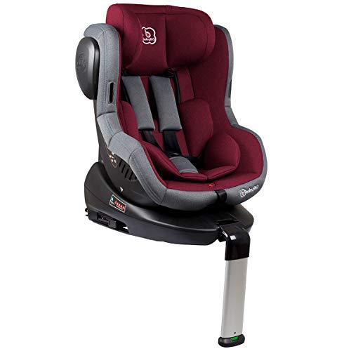 BabyGo Kindersitz Autositz ISO 360 Gr.0+ bis 18kg Isofix red 2201
