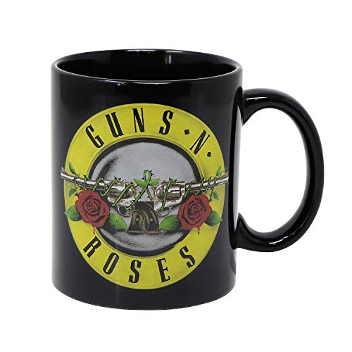 Guns N' Roses Tasse Classic Logo - schwarz, Bedruckt, 100% Keramik, Fassungsvermögen ca. 300 ml.