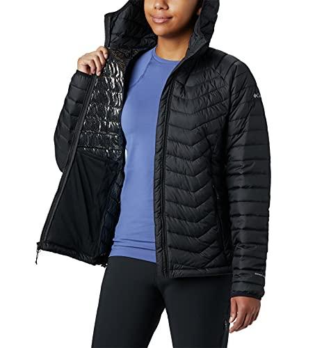 Columbia Powder Lite, Chaqueta con capucha, Mujer, Negro (Black) Talla L