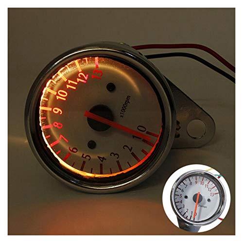 shiqi 13000 RPM Scooter Motocicleta Tacómetro analógico Gauge12V Instrumentos de Motocicleta Indicador de Velocidad del Scooter