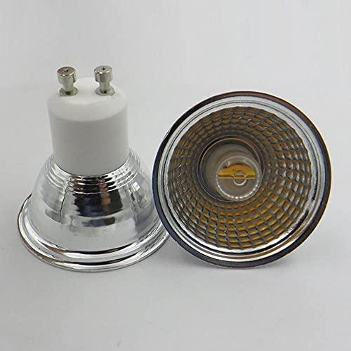 Bombilla de bombillas de luz de iluminación GU10 COB 5W AC220V Dimmable Cerámica LED bombilla Lámpara de techo Lámpara de techo Downlight Living Room Iluminación Bombillas LED Bombillas halógenas Zzzb