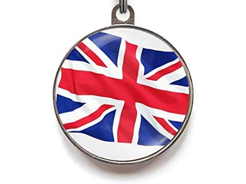 Union Jack Flag Pet Tag, Union Jack Pet Tag, British Flag Pet Tag, Pet ID Tag, Dog Tag, Pet Tag, Dog Tags, Cat Tag, Cat ID Tag (Small)