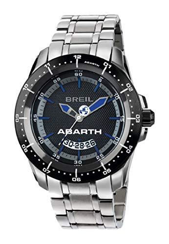 Armbanduhr BREIL Mann Abarth quadrante schwarz e uhrarmband in Stahl, Werk TIME JUST - 3H QUARZUHR