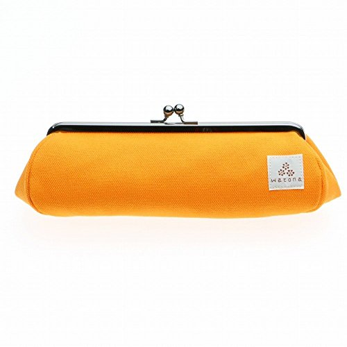 watona帆布がま口ペンケース(オレンジ)