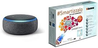 Echo Dot (3ª generazione) - Altoparlante intelligente con integrazione Alexa - Tessuto antracite + Bticino SNT1000KIT Livi...