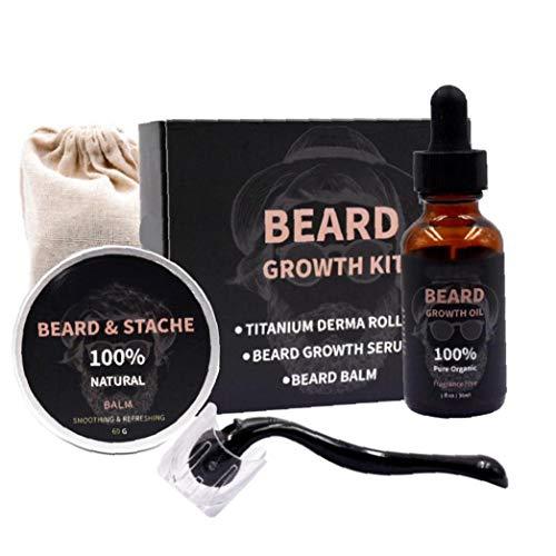 ZYCX123 Männer Beard Growth Kit, für Gesichtshaarwuchs Bart Pflegende Wachstum Ätherisches Öl Beard Pflege Supplies