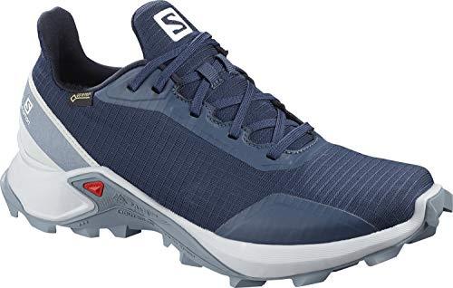 Salomon Damen Trail Running Schuhe, ALPHACROSS GTX W, Farbe: blau (sargasso sea/ pearl blue/flint stone) Größe: EU 40 2/3