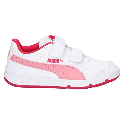 Puma Unisex-Kinder Stepfleex 2 Sl Ve V Ps Sneaker, White-Peony-Bright Rose, 32 EU