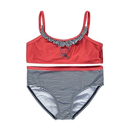 Steiff Bikini Conjunto de baño, Rojo (Tango Red 4008), 86 cm para Niñas
