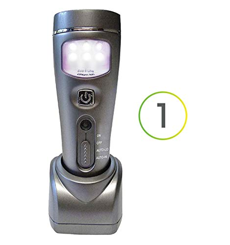Capstone Lighting 4-in-1 Eco-I-Lite, 2 Pack – Emergency Flashlights, Night Light, Power Failure Light and Work Light – This Rechargeable LED Flashlight is Perfect for Power Outages and Hurricanes