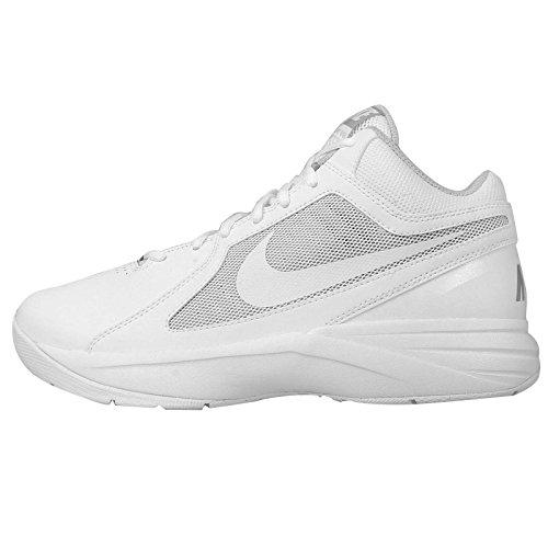 Nike The Overplay VIII Herren Basketballschuhe, Weiß (White/White-Metallic Silver), 44.5 EU