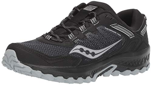 Saucony Women's VERSAFOAM Excursion TR13 Road Running Shoe, Black, 9 M US