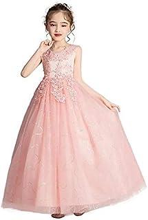 فستان للفتاة الصغيرة حاملة الزهور في العرس، فستان أميرة رسمي للحفلات ومسابقات الجمال والمناولة للفتيات بعمر من 4-14 سنة