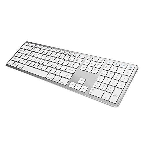 Teclado Bluetooth Ultra Slim Wireless Bluetooth Keyboard Tablet Teclado 109Keys for Support Bluetooth Dispositivo Teclado Bluetooth para Tablet (Color : White)
