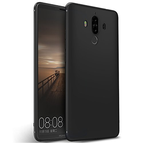 Olliwon Huawei Mate 9 Hülle, Dünn Leichte Schutzhülle Schwarz Silikon TPU Bumper Hülle Cover für Huawei Mate 9 -Schwarz