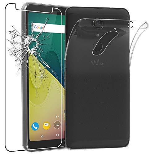 ebestStar - kompatibel mit Wiko View XL Hülle Handyhülle [Ultra Dünn], Durchsichtige Klar Flex Silikon Schutzhülle, Transparent + Panzerglas Schutzfolie [Phone: 158.1 x 76.5 x 8.2mm, 5.99'']