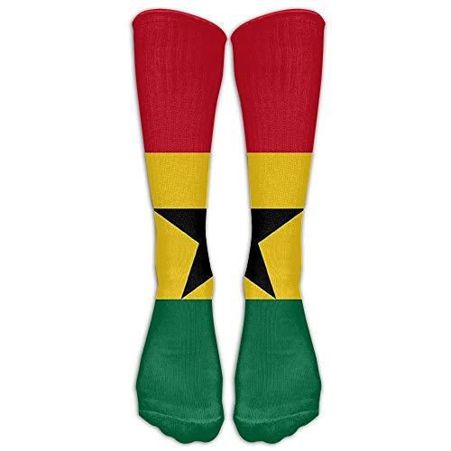 Ljkhas232 Ghana Flag Winter Compression Socks for Men & Women - Best for Running, Nurses, Shin Splints, Flight Travel, Skiing & Maternity Pregnancy - Boost Athletic Stamina & Recovery