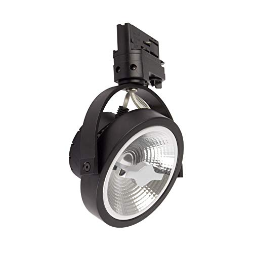 LEDKIA LIGHTING Foco LED CREE AR111 15W Regulable Negro para Carril Trifásico Blanco Neutro 4000K