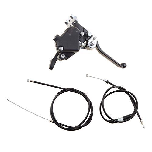 WOOSTAR Daumen-Gashebel mit Gaszug und Bremskabel für 49cc Mini ATV Kid Quad