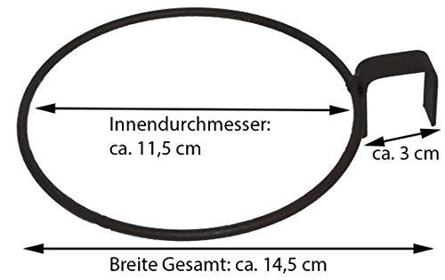 Novaliv Pflanztopf zum Einhängen Ringhalter für Europlatten Hängetopf (1, 12 cm) - 3