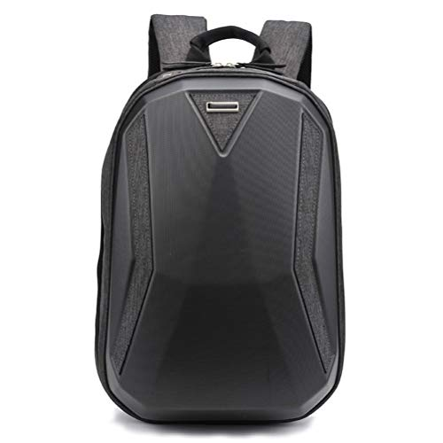 WMM 14 Inch Business Laptop Backpack Men and Women PC Hard Shell Bag Anti-scratch, Water Repellent (Color : Black)