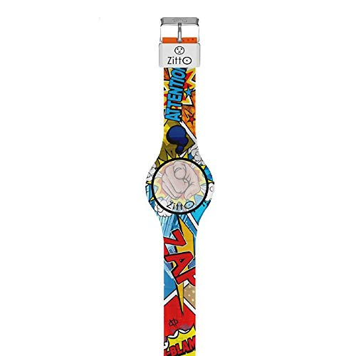 Orologio digitale piccolo ZITTO COMICS in silicone multicolore INCEPTION-ME-MINI