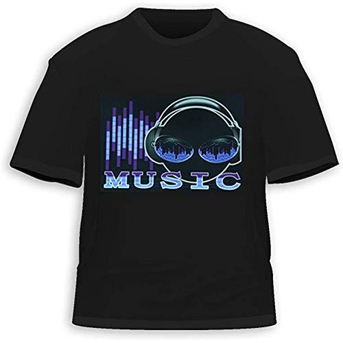 Qingning JIAYINZ ® Purple Alien Sound Activated LED T-Shirt