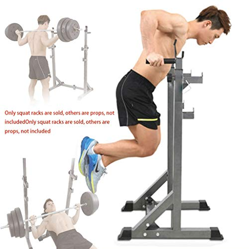 Gabbia per lo Squat Squat Rack Sostegno Bilanciere Bench Press Rack Parallel Bar Squat Rack Bench Press Rack Domestica Bilanciere Peso Bed Domestica Separata Squat Rack Indoor (Color : Gray)