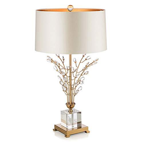 WJL 18x30 inch simpel modern licht luxe kristalglas boom-bloemen-design slaapkamer bedlampje, warme en romantische woonkamer studeerlamp