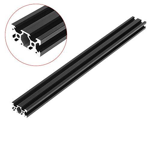 Marco de extrusión de perfil de aluminio para herramientas CNC, 100 – 1000 mm, negro, 2040 V