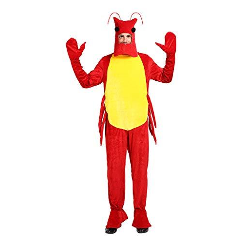 EraSpooky Disfraz de Langosta Unisex Animales Marinos Fiesta de Halloween Traje Divertido para Mujeres Hombres Adultos