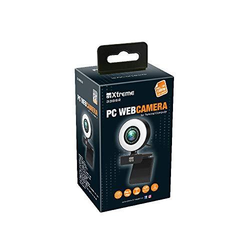 Pc Webcam Full HD 1920 x 1080 Led Lamp Microfono Rotazione di 360° 33862