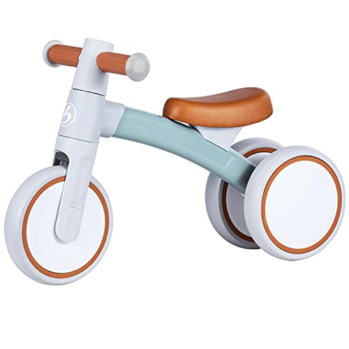 Bicicleta sin Pedales, Bici sin Pedales Niño,Triciclos Bebes Correpasillos para Ejercitar la Capacidad de Equilibrio de Niños,Bebes para Niños y Niñas 1-3 Año Regalo Ju(Size:59*36*24,Color:Té de jade)