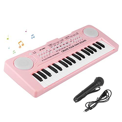 Tastiera Pianoforte Elettronica Bambini£¬37 Tasti Tastiera Musicale Portatile Pianola Bambini Digitale Tastiera Giocattoli Educativi Regalo di Natale per 3-8 Anni Ragazze Ragazzi Principianti