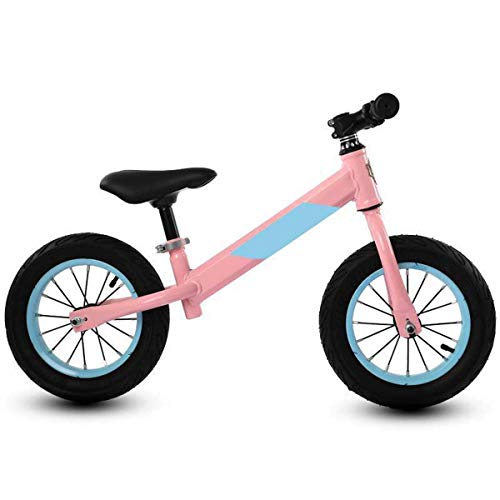 Balance Bike 12 Inches, Kids Bike for 2-6 Year Training Bicycle, Inflatable Rubber Tire