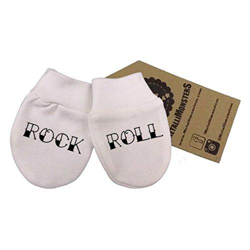 Metallimonsters Rock/Rouleau bébé Moufles anti-griffures pour