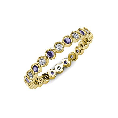 Diamond Iolite Jewelry Set - 8