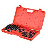 Tube Bender Kit Refrigeration Ratcheting Tubing benders Hand Tool 1/4 to 7/8 Inch with Carry Box