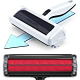Mozy Roller Pro Dog Hair Remover and Cat Hair Remover (2021 Model) – Quickly Removes Pet Hair from Furniture – Easier to Use Than Vacuums, Brushes, Gloves, and Sticky Lint Rollers (Black and White)