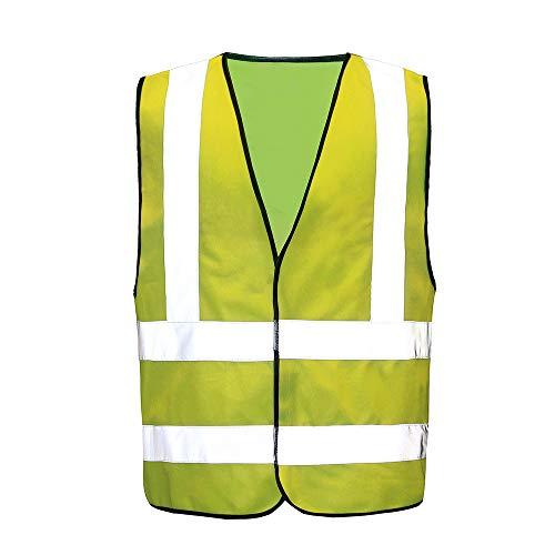 Auto Warnweste, Sicherheitsweste, Pannenweste für Auto, Fahrrad, Waschbar, arbeschutzkleidung (L, Gelb)