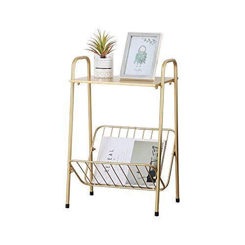 MZXU Revistero Estante Simple Mesa de Centro estantería Inicio Sala de Estar Estudio de la Revista Creative Despacho (Color : Gold, Size : One Size)