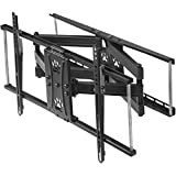 """Cheetah Mounts Dual Articulating Arm TV Wall Mount Bracket for 20-80"""" TVs up to VESA 600 and 115lbs, fits 16', 24' Wall Studs and Includes a Twisted Veins 10' HDMI Cable & 6"""" 3-Axis Magnetic Bubble"""