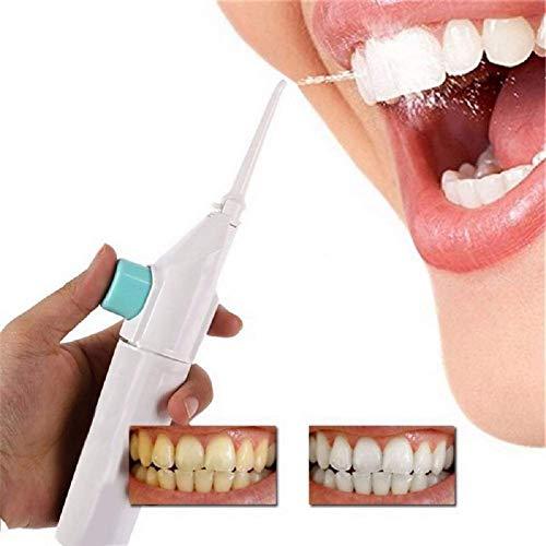 Ducomi Power Floss Idropulsore Dentale Manuale Irrigatore Denti Pulizia Orale Portatile - Rimuove Placca, Tartaro, Residui Cibo e Batteri - Getto d'Acqua Gentile per Denti Sensibili e Apparecchi