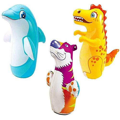 WHK Juguete de Vaso Inflable 3D de 38',Saco de Boxeo Toys Bop BagJuguetes interactivos Big Tumbler Toy