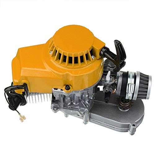 For Sale! Pandamama Exquisitely Designed Durable 49Cc Mini Dirt Bike Engine with Transfer Box Yellow...