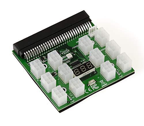 KALEA-INFORMATIQUE© – 1200w 750w Breakout Board for HP Power Supply - 12 x P6 Power Header - GPU Bitcoin Mining BTC