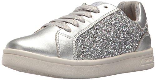 Geox Mädchen J Djrock  D Low-top Sneaker, Silber (Silver), 31 EU