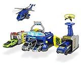 Dickie Toys 203719011 - Kit de policía con Cabeza de policía, Incluye vehículos de Publicidad televisiva, Juego de Regalo para niños, Multicolor