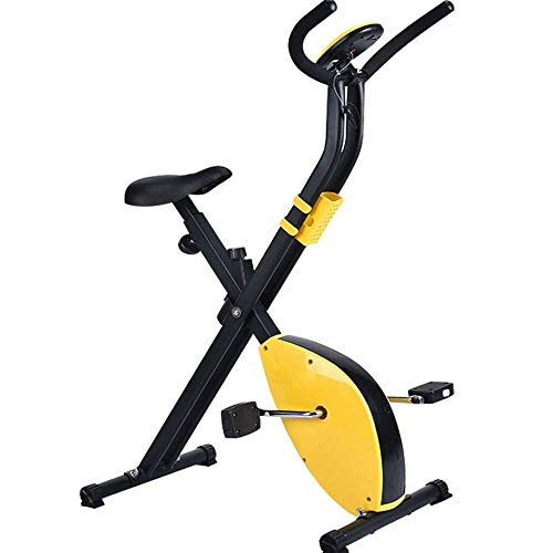ALYHYB Exercise bike Fitness Exercise Bike,Indoor Folding Type Infinite Resistance Adjustment Silent Training Magnetic Control Bicycle Fitness Device huangcui