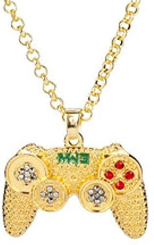 Gothic Halskette Game Controller Anhänger mit Strass Hip Hop Gold / Schwarz / Silber Farbe Vintage American Style Kette Schmuck-Gold